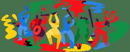 होली का त्योहार धूमधाम से मनाया जा रहा  है