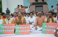 भाजपा कार्यकर्ताओं ने किया उपवास