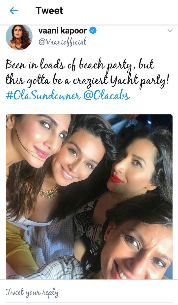 Vaani Kapoor, Sophie Chaudhary enjoying with DJ Nucleya in Ola Sunburn festival 2017
