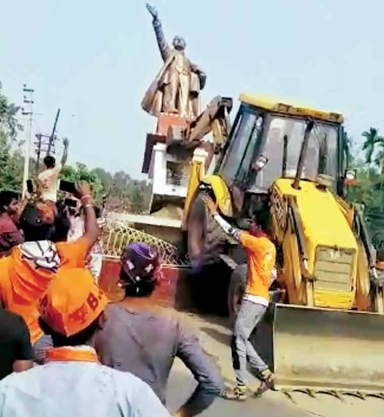 त्रिपुरा हिंसा का वामदलों ने किया विरोध