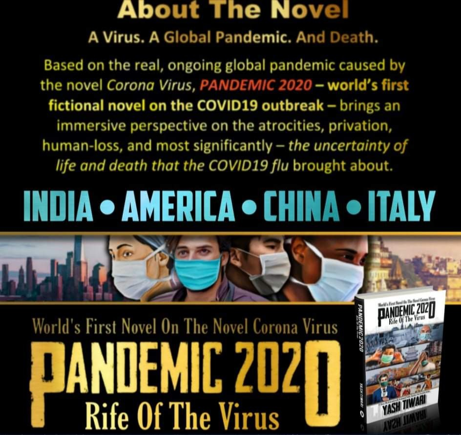 World's First Novel  On Coronavirus Authored  By An 18 Year Old Boy