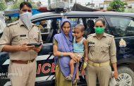 पीआरवी ने बच्चियों की पहचान करवाकर सकुशल उनकी माँ के सुपुर्द किया